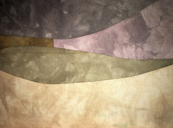 Pasture, 3'x1' Hand dyed cotton, 2021