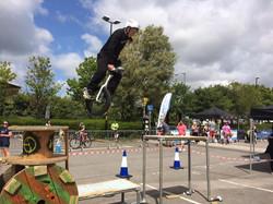 Unicycle stunts
