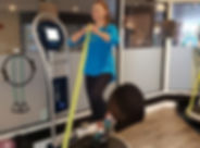 Member on a vibration machine