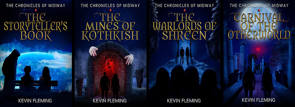 The covers of each of the four ebooks