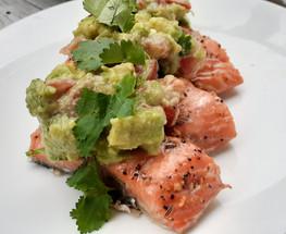 Roasted Salmon with Avocado Salsa