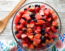 Papaya Watermelon Berry Salad