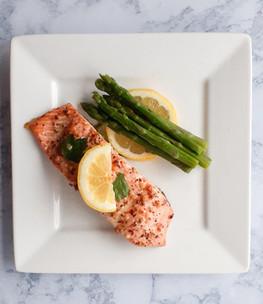 Lemony Salmon & Asparagus