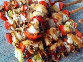 Hawaiian BBQ Chicken Skewers