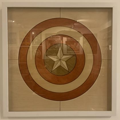 Captain America Shield inlay No.1