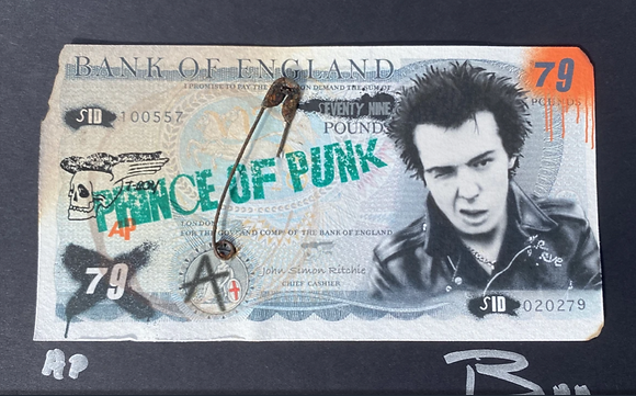 Prince of Punk LTD edition defaced note – Tboy Studios