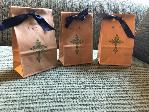 Custom Rosary Gift Bags - $10