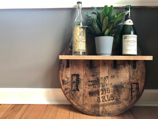 Barrel Head with Shelf - Customizable - $125.00
