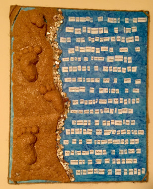 Footprints Prayer Canvas - Customizable - $100.00