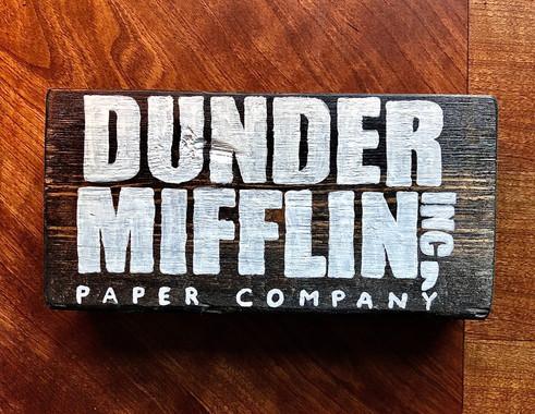 """6""""x 3"""" Dunder Mifflin Block - $25.00"""