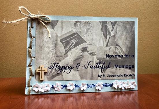 Handmade Novena Booklet (Outside) - Customizable - $20.00