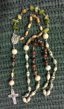 5 Decade Rosary - Beads/Cross/Mary Customizable - $40.00
