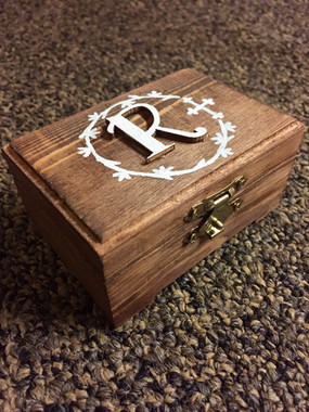 Hand Painted Rosary Box (outside) - Customizable - $15.00