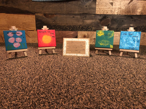 Mini Canvases w/ easels & quotes - Customizable - $50.00