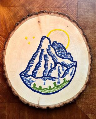 Mountain Wall Medallion - Customizable - $30.00