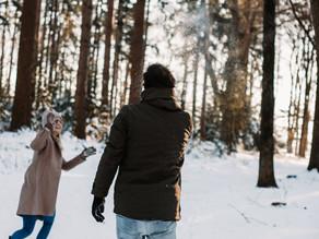 Couple shoot in de sneeuw!