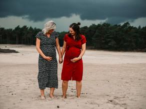 Zwangerschap  shoot Sahara Ommen