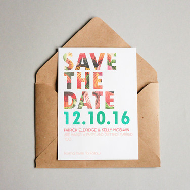 Wedding save thge date card.