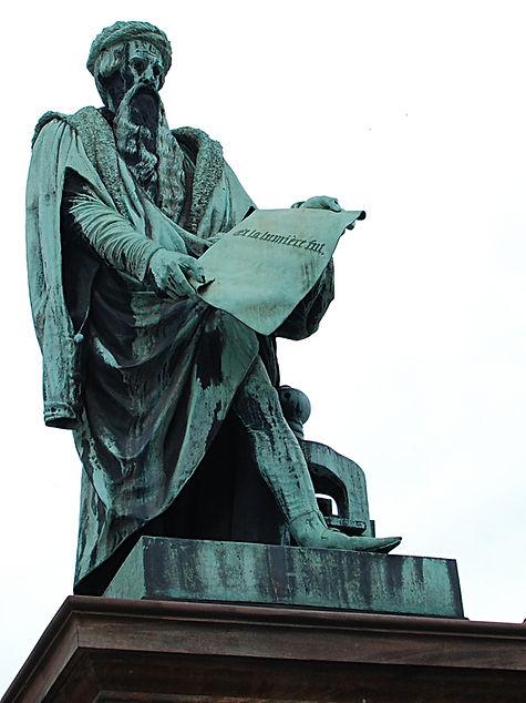 Statue de Gutenberg, à Strasbourg.