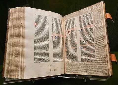 Bible imprimée sur la presse de gutenberg