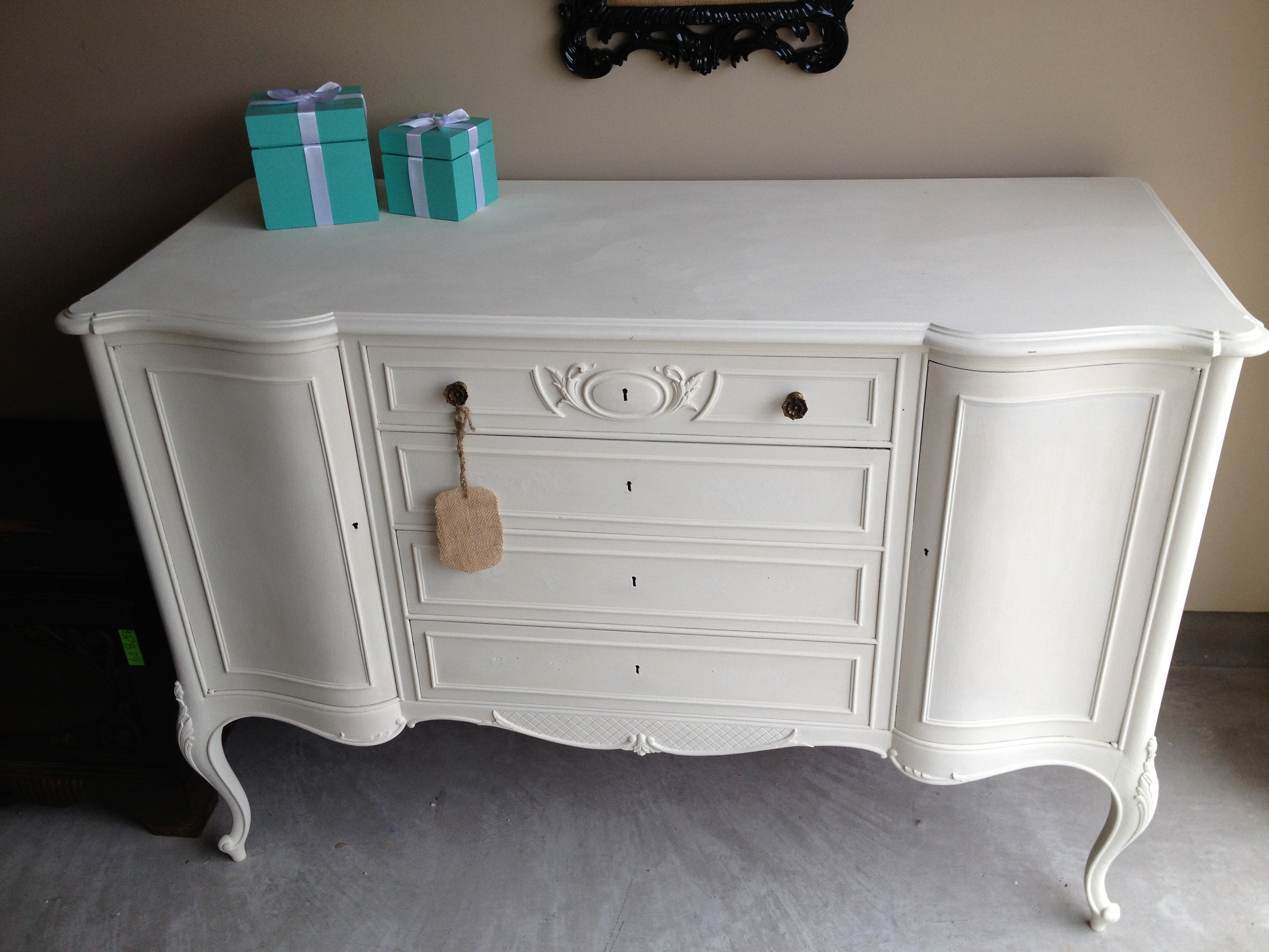 Antique Buffet in Old White - Sold
