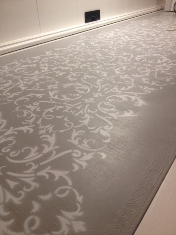 Stencil finish of desk top - Sold