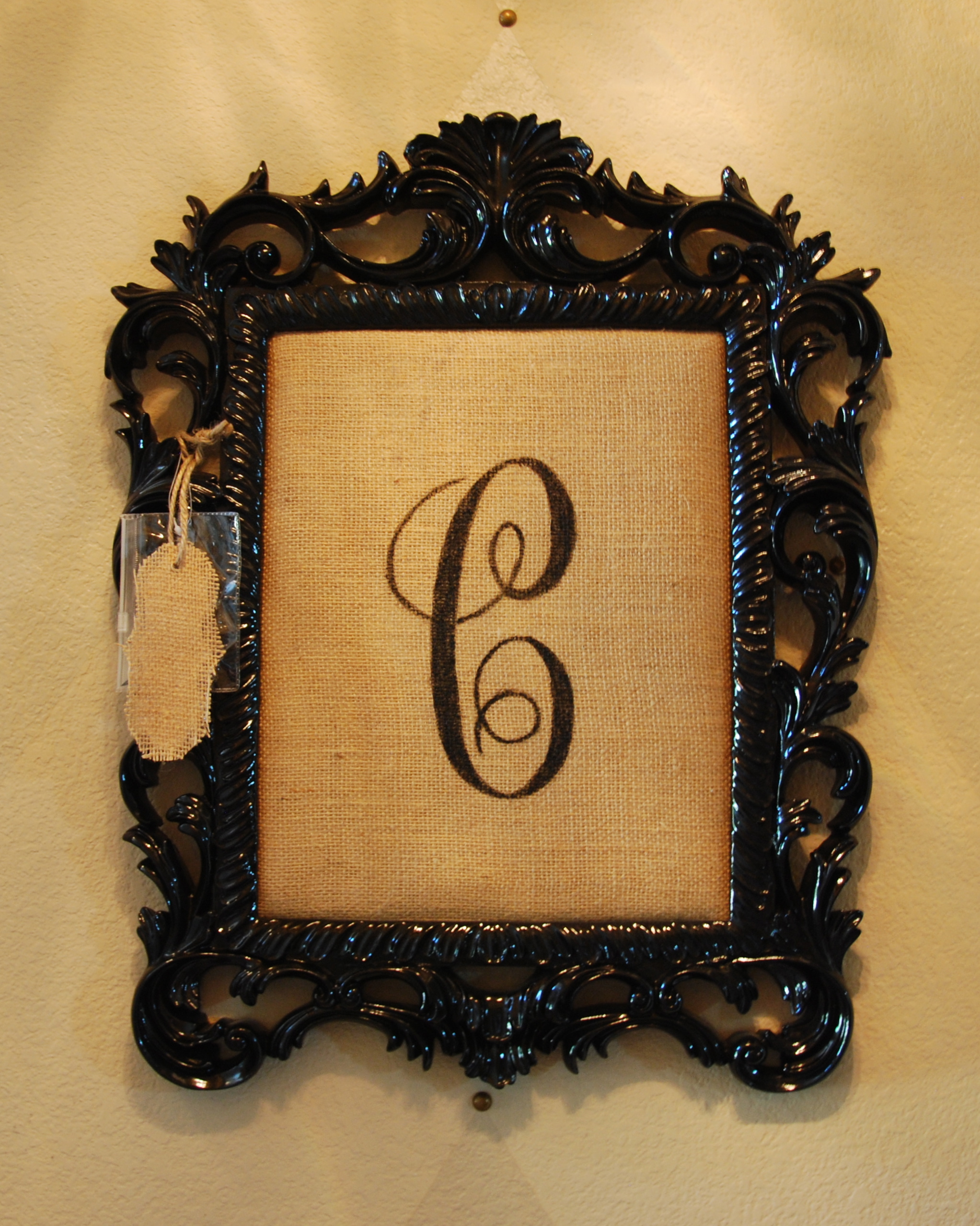 Black Lacquer Monogram - Sold