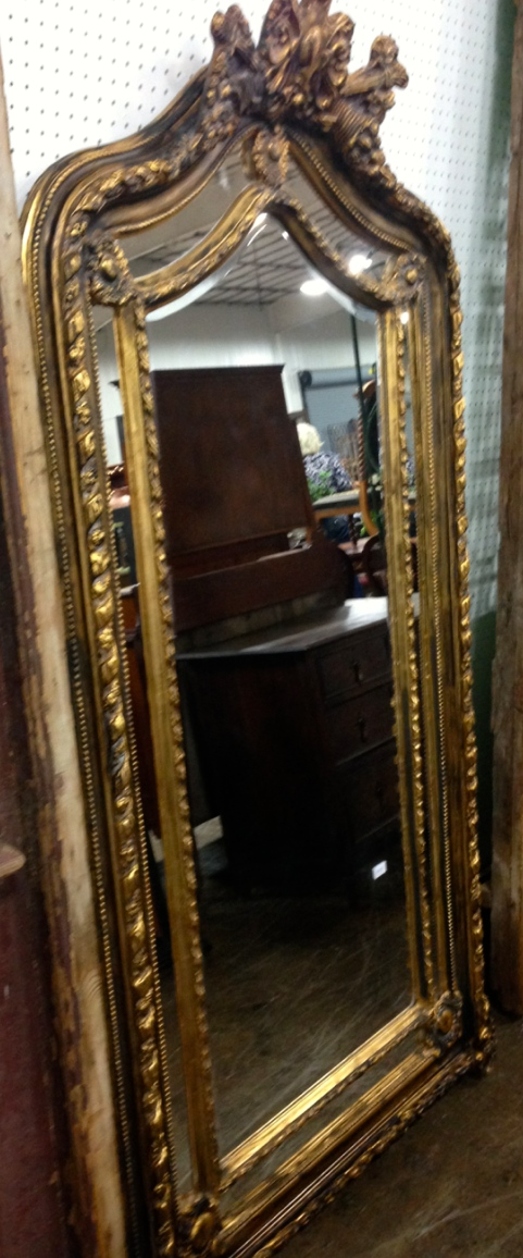 Pair of 7'Gold French Mirrors - Sold