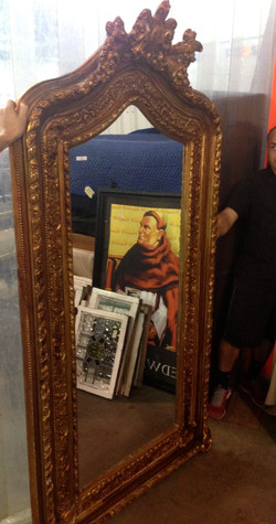 7' Heavy Relief Gold Mirror - Sold
