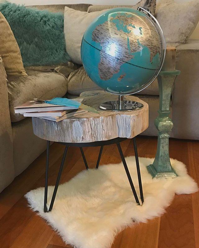 Nuestra mesa de tronco ... un clásico 🌳