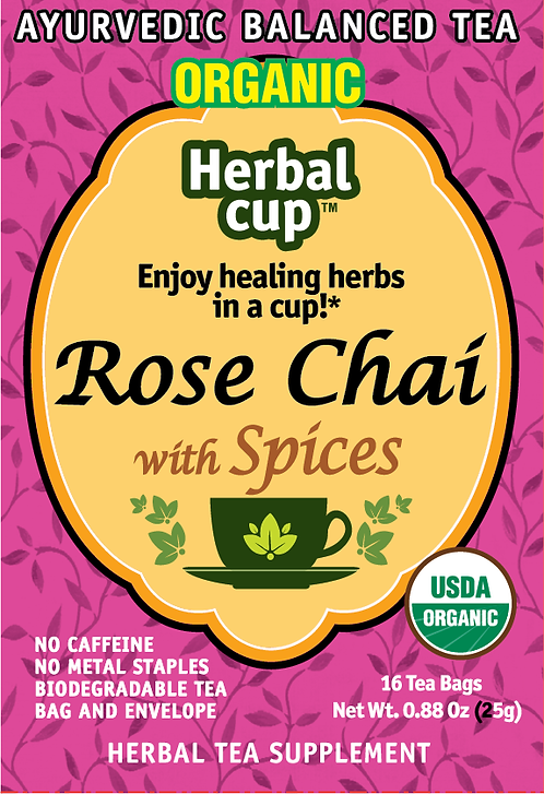 Rose Chai with Spices