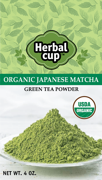 Imported Organic Matcha Powder from Japan - 4oz pouch