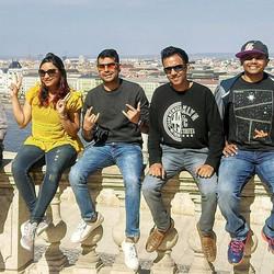 From L- R - Yukti from Nagpur , Niraj from Mumbai , Adrian from Mumbai , Karan from Mumbai