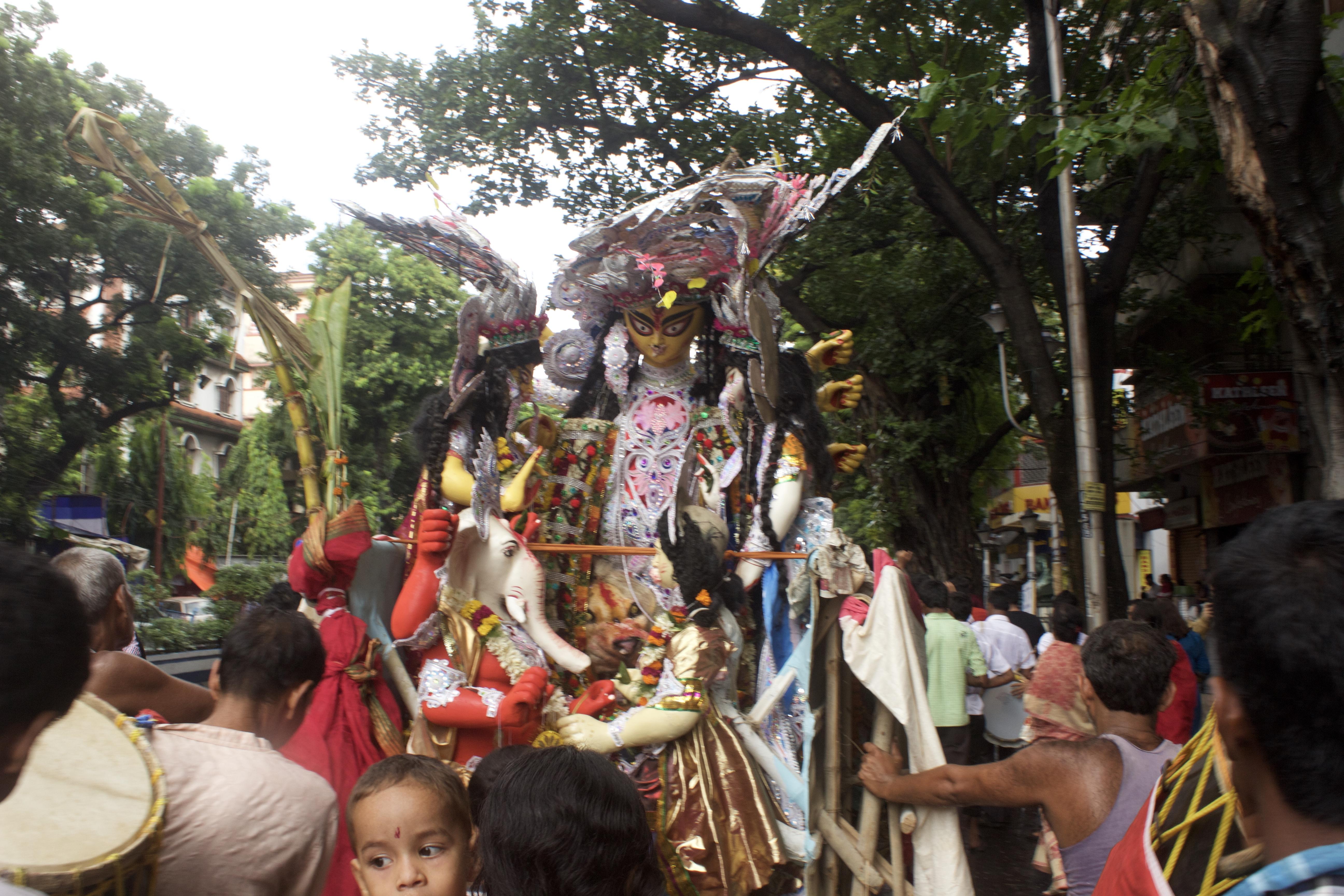 Goddess Durga heading for Visarjan