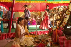 Pandit performing rituals