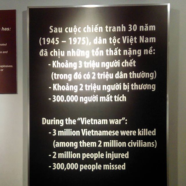 Look at that Stats now - the war was fought for 17 Years - America - Vietnam War