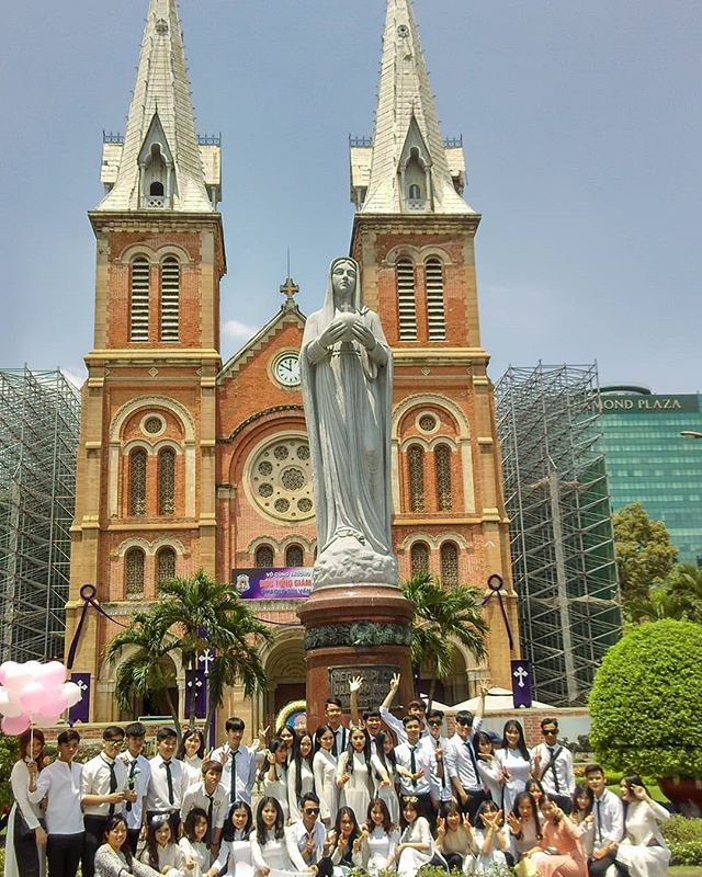 Notre Dam Cathedral , Ho Chi Minh - brings back so many memories from Paris