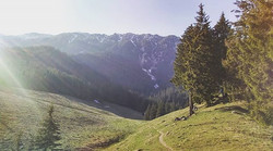 While hiking in the Carpathians_._