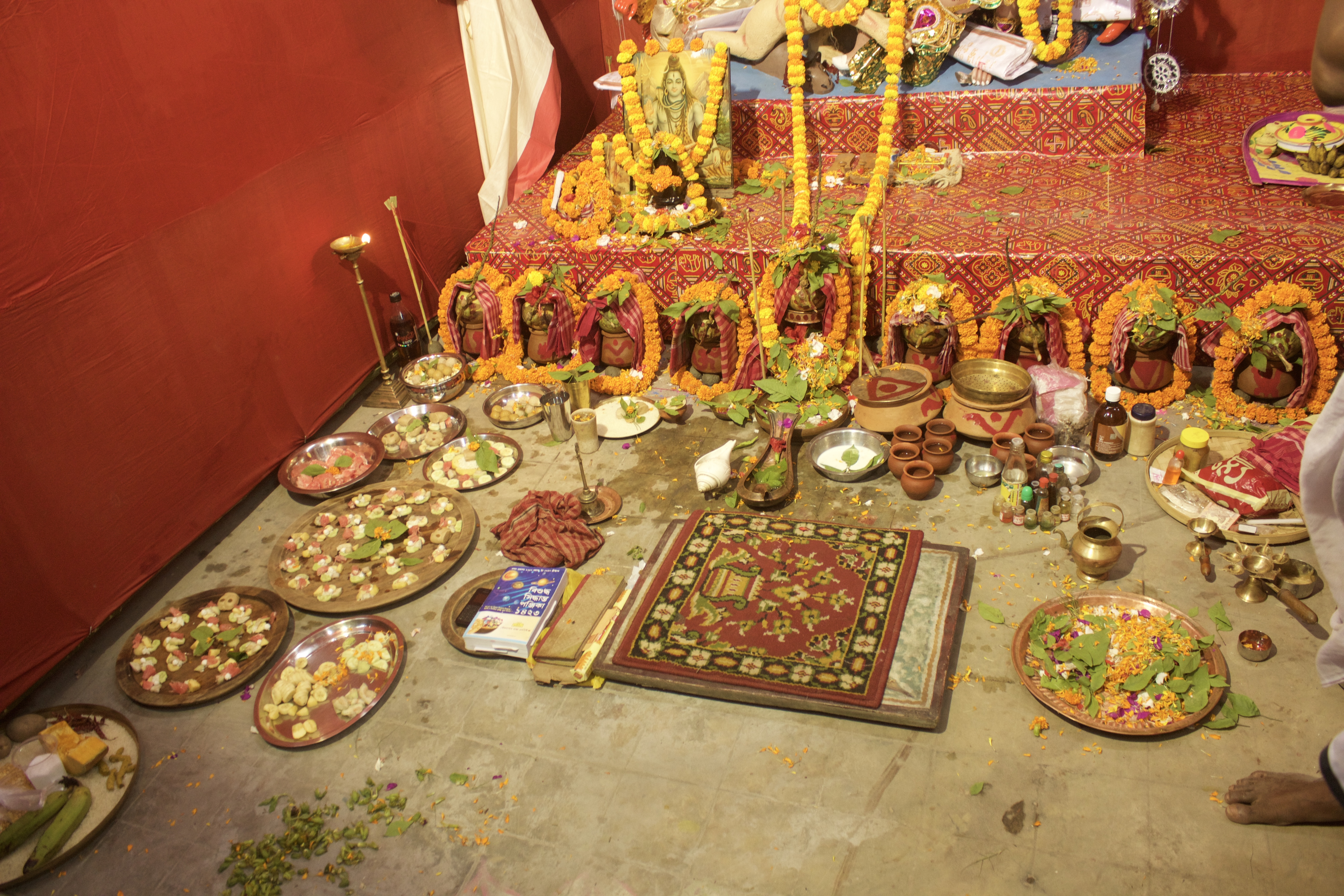 House Puja - set up