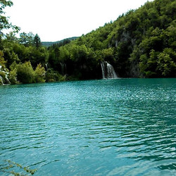 We are still in Plitivice national park .jpg A glimpse of lower Lake part of the park