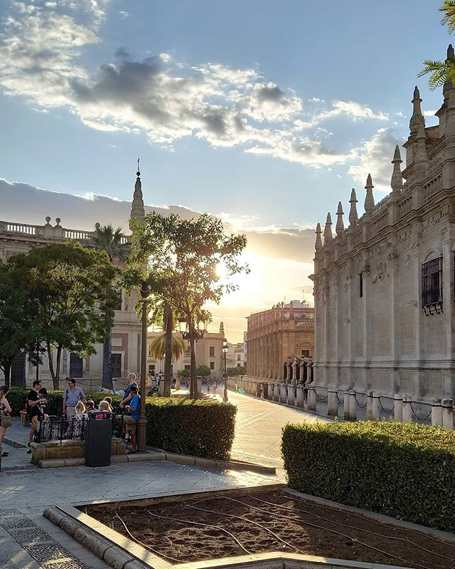Evening Scene - Seville_._._._