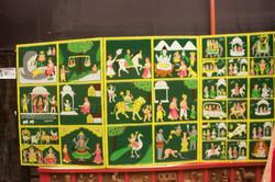 Wooden artwork depeicting Goddess