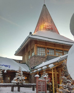 Santa Claus Home , Lapland . the village lies on the Arctic circle