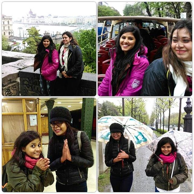 Travelers - Exploring Budapest and it's dam cold out here _Top to bottom - Rishita and  Sonali - Shr