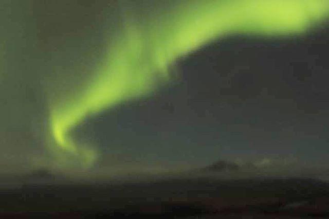 Aurora dance above Vatnajökull National