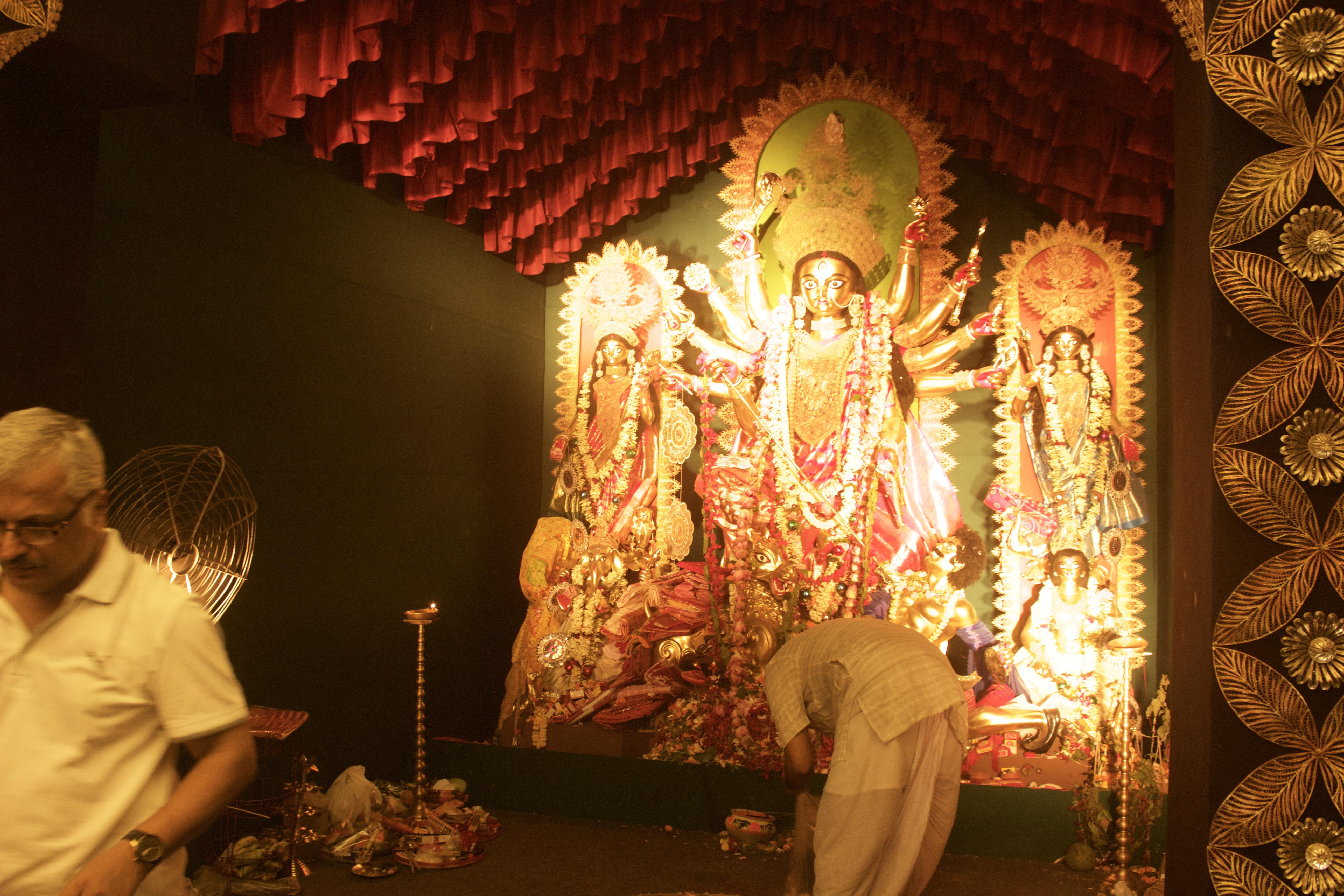 One of the Pandal's - Goddess Durga