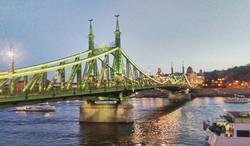 Freedom bridge , on way of our walk tour Budapest