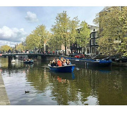 Canal boat Party - still getting over off Kings day in Amsterdam
