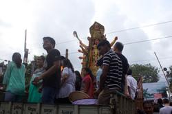 Goddess Durga coming for Visarjan