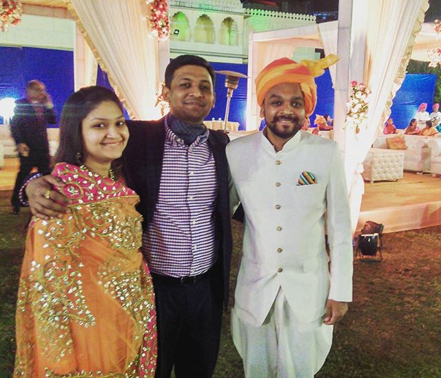 Wedding scenes - double reason to celebrate - Marriage Anniversary of couple standing next to me and